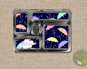 Umbrella Rainy Day Lunchbox Magnets: Usable on Planetbox Rover