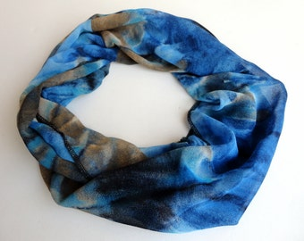 Ocean Scarf Women Infinity Scarf Shawl Scarf Chiffon Scarf Circle Scarf Women Scarves  Valentines Day Christmas gifts for her Holiday Gifts
