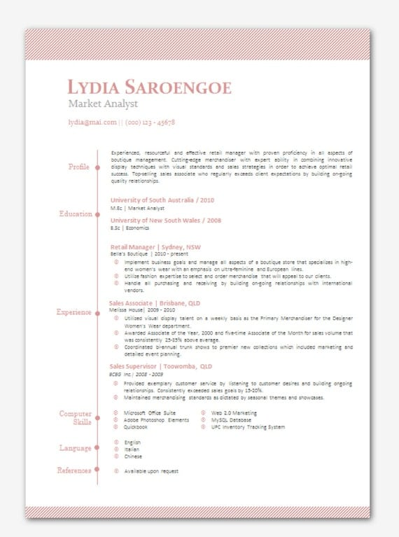 items similar to modern microsoft word resume template lydia saroengoe resume templates word
