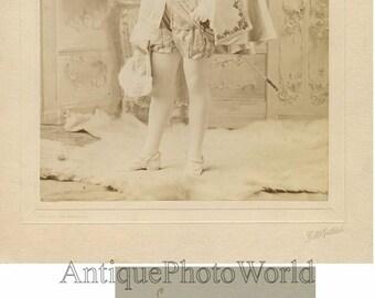 Handsome actor in amazing costume w sword antique photo