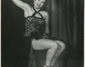 Beautiful woman dancer in exotic costume Lorraine Berlin antique photo