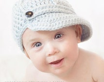 PATTERN Brimmed Ball Cap with Ridges - Crochet Hat