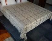 Large moroccan wedding blanket wool  / Moroccan interior design / Handira wedding blankets /