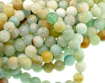 """10mm Amazonite Beads, Polished Amazonite Full Strand - 1 16"""" Strand (about 41 beads)"""