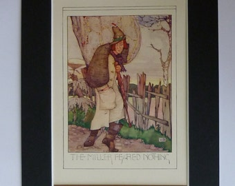 1920s Antique Miller Print - Artisan Baking Wall Art - Bakery Art - Milling Picture - Antique Illustration - Fantasy Art Print - Green Magic