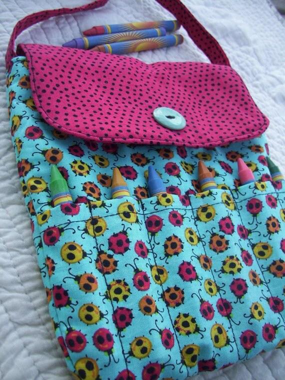 Ladybug Crayon Purse, Toddler Purse