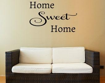 Home Sweet Home Decal  - Door Decals - Wall Decals - Home Decor - Home Decal - Decals
