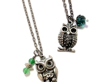 Feathered or Spotted Owl Necklace