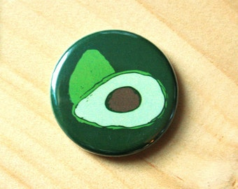 Avocado //  1.25 inch button