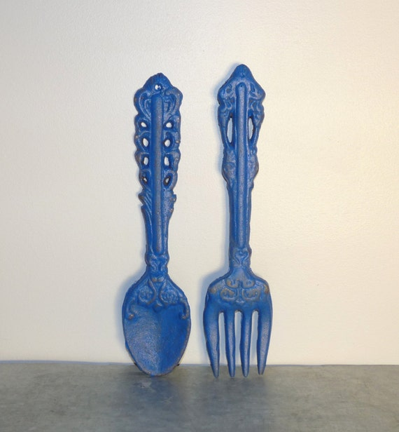 Kitchen Wall Decor Fork And Spoon: Spoon And Fork Wall Decor Cast Iron Wall Decor Kitchen Wall