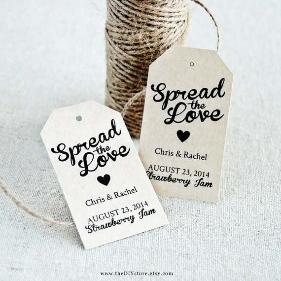 Spread The Love Diy Favor Tag Template Text Editable Medium