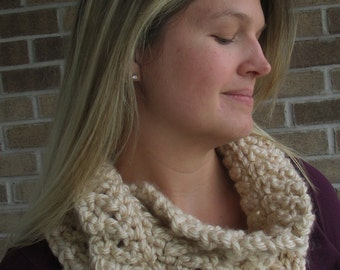 "Crochet Pattern: ""Knotted Threads"" Cowl, Permission to Sell Finished Items"