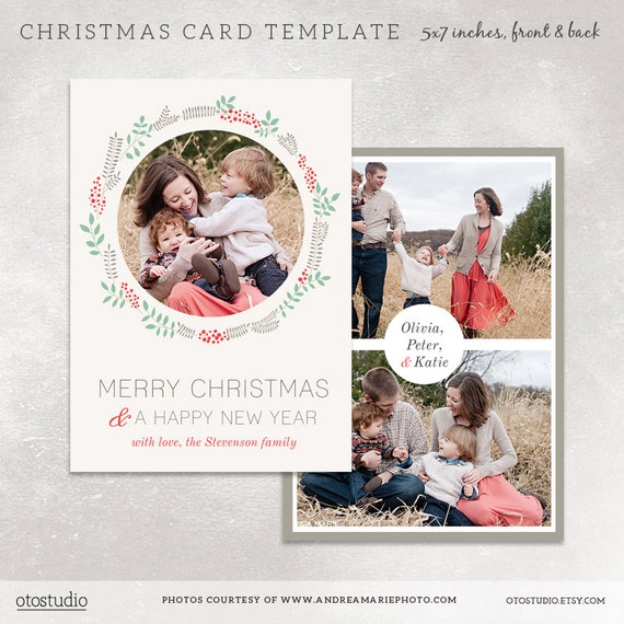 Christmas card template for photographers digital photoshop for Free christmas card templates for photographers