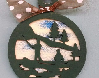 Fishing Christmas Ornament