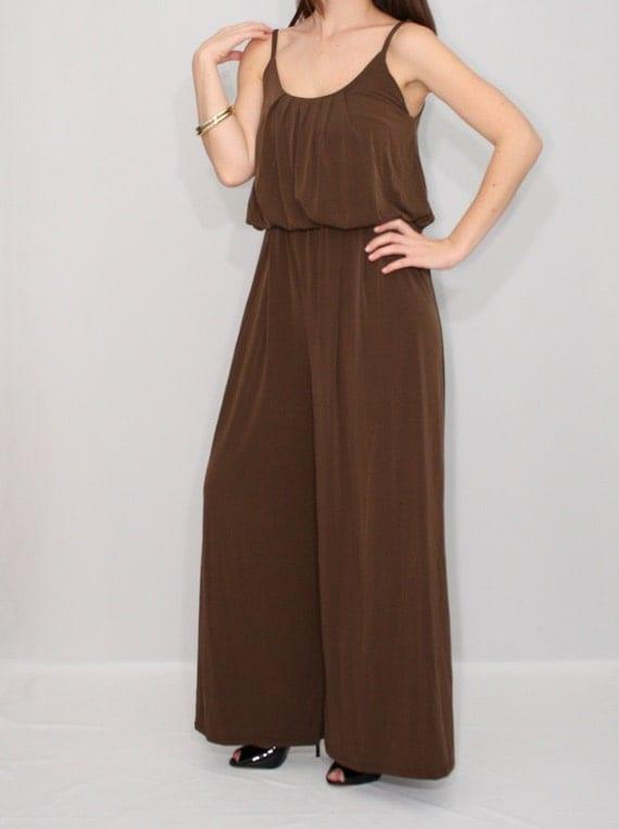 Model  FULL LENGTH WIDE LEG PALAZZO PANTS SUIT DRESS JUMPSUIT  EBay