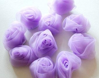 Lilac Purple Rose Flower Applique Patch