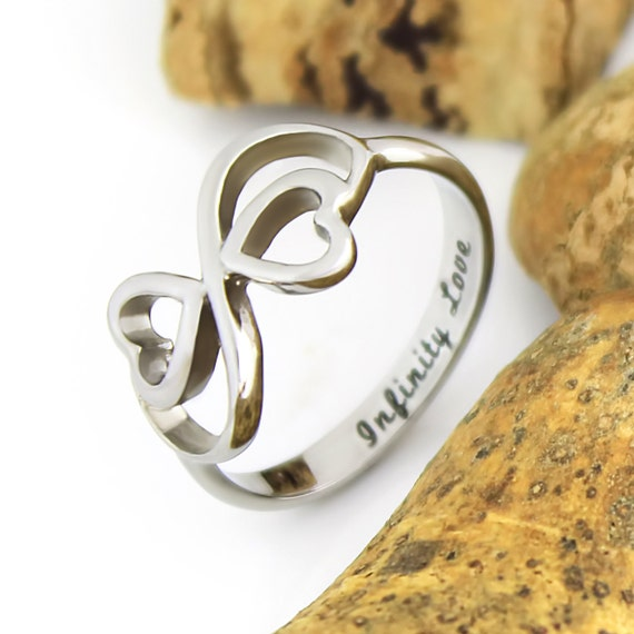 ring infinity ring hearts promise ring by tzaro