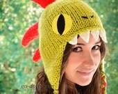 Adult size: Murloc (World of Warcraft) knitted hat