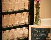 Handcrafted Chalkboard Spice Rack - Backless - 15 Bottles and Corks Included! Custom Colors Available