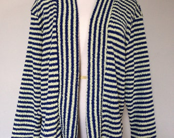 Great 1950s Open Striped Cardigan
