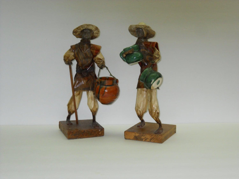mexican paper mache figures folk art statues
