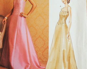 Uncut Vogue Badgley Mischka American Designer Sewing Pattern no 2732 Sizes 6 8 10 Evening Dress