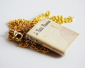 Le Petit Prince's mini book necklace