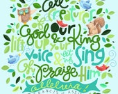 All Creatures of our God and King!  - Original Illustration, Print,