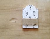 Favor Tags Botanical Gift Tags Mini Notes Minimalist Stationary Hang Tags Set Paper Tags Woodland Cards