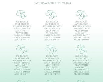 Wedding Table Plan / Seating Chart - Modern Floral Ombre