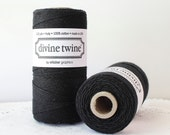Black Twine-240 Yards,  Divine Twine, Solid Black Twine, Spool of Twine, Mason Jar Twine, Bakers Twine, Coral Tags, Craft Supply, Tag Twine