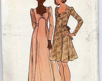 Seventies Formal-style dress pattern, Butterick 3941, Size 11 - UNCUT