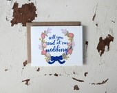 Will You Read At Our Wedding Card - Floral Wreath