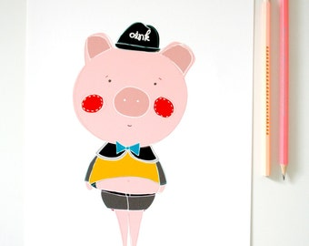 Print- Little Pigglet-