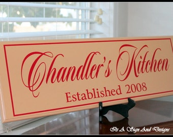 "Shop ""custom wood sign"" in Kitchen & Dining"