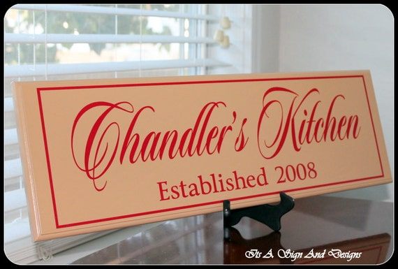Personalized Kitchen Sign Wood Kitchen Sign Kitchen Sign