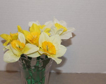 Bouquet of 5 Daffodil Flower Topped Duct Tape Pens