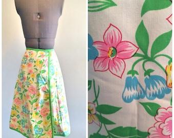 Vintage Floral Wrap Skirt