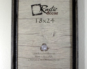 "18x24-2"" wide Rustic Barn Wood Signature Wall Frame"