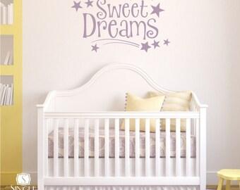 Sweet Dreams Wall Decal Quote - Vinyl Word Art