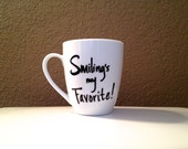 Elf Christmas Mug -- Smiling's My Favorite - WordedWell
