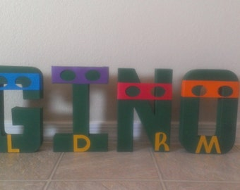 Ninja Turtles- Teenage Mutant Ninja Turtles Letter art- Up to 5 letters included