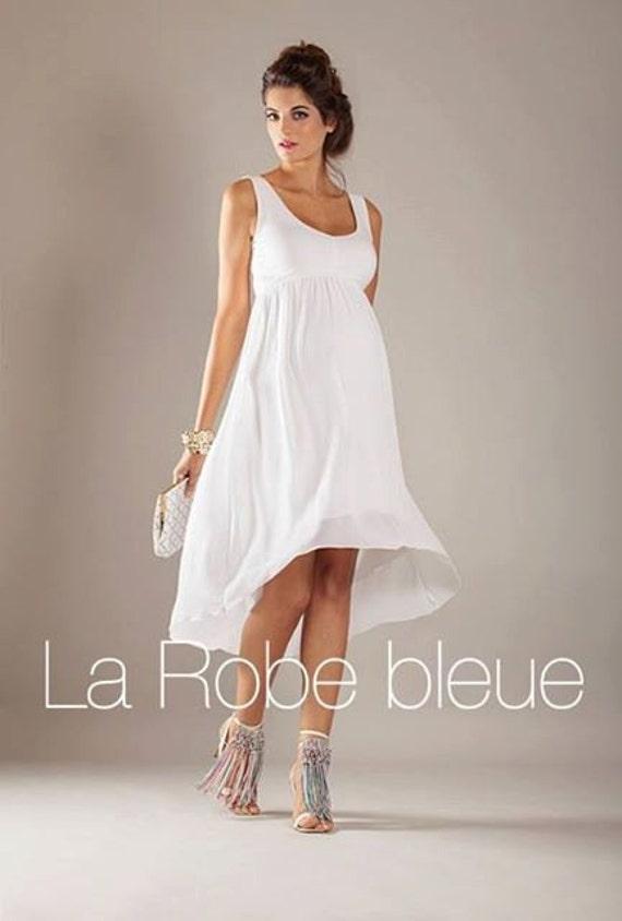 White summer dress Spring Maternity Dress Flowy Hi by ...