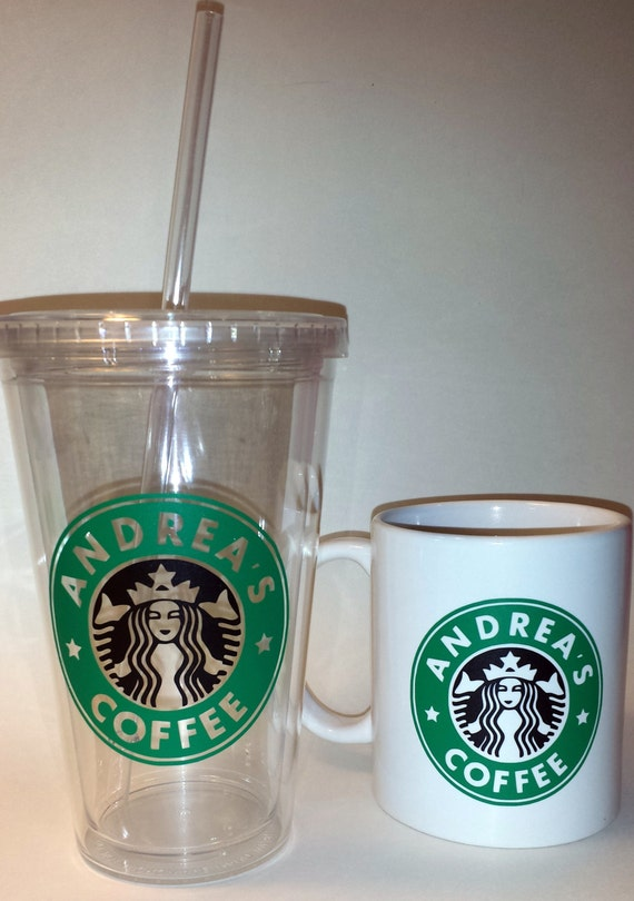 Personalized starbuckslike coffee cup or tumbler by for Starbucks personalized tumbler template