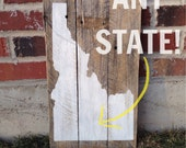 CUSTOM STATE SIGN - 3 Board Personalized Wooden Sign