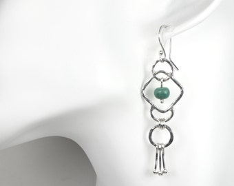 925 Sterling Silver Ethnic Earrings with Natural Turquoise Gemstones