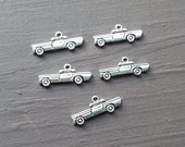 Set of 5 Tibetan Silver car charms. 28x11mm