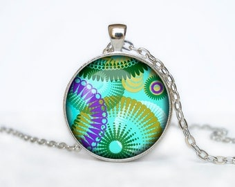 Abstract necklace Abstract pendant abstract jewelry