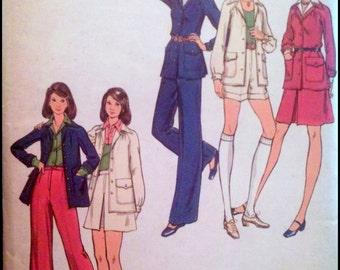 """Butterick  6957  Misses' Jacket, Skirt, Pants & Shorts  Bust 31.5"""" UNCUT"""
