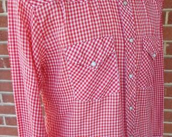 Vintage Long Sleeve Western Snap Shirt by Atlantic